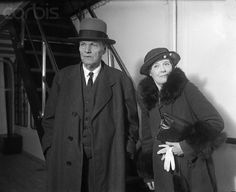 Clarence Darrow, famous criminal lawyer, arrives from Europe with his wife on the S.S. Saturnia, after spending several months at Cannes, on the French Riviera, where the famous attorney wrote a number of articles on prohibition. Mr. Darrow will appear in a series of debates on the repeal of the dry law, the first of which will take place in New York on March 19th with Senator Brookhart.