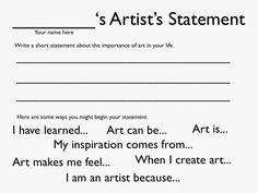 [ Write Thesis Statement Art Paper How Good College Essay Photography Students Should Consider Writing Artist ] - Best Free Home Design Idea & Inspiration Art Analysis, Art Doodle, Art Critique, Importance Of Art, Art Handouts, Art Rubric, Art Criticism, Art Worksheets, Art Curriculum