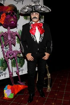 Pin for Later: 90 Cute, Crazy, and Creepy Celebrity Halloween Costumes  Michael Kors was almost unrecognizable in his mariachi costume in 2011.