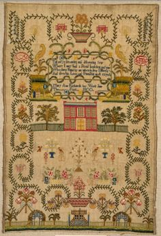 Early embroidery sampler from the V&A's collection