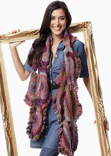 """Share Knit and Crochet: Crochet shawl-scarf """"Mad Eight"""" from Bernat!"""