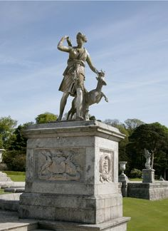 The statue of Diana on the upper Italian terrace at Powerscourt was bought in Rome by the 6th Viscount. www.powerscourt.ie