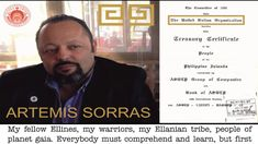 ARTEMIS SORRAS   ALL CITIZENS HUMANS ON THE PLANET MUST INFORM GOVERNMEN...