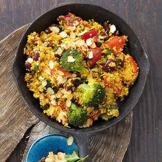 Curry-Hirse-Pfanne mit Gemüse