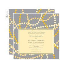 yellow and gray invite