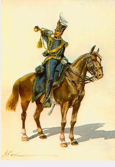 Regio Esercito - Trombettiere di Artiglieria a cavallo - 1840