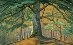 Tree by Emily Carr (oil on paper; Emily Carr Paintings, Paintings I Love, Tree Paintings, Beautiful Paintings, Tom Thomson, Canadian Painters, Canadian Artists, Group Of Seven Paintings, Vancouver Art Gallery