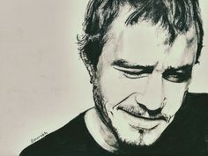 Heath ledger with charcoal
