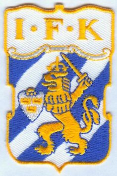 IFK Goteborg Swedish Sweden Football Soccer Badge Embroidered Patch Sweden Football, Sport, Football Soccer, Iron On Patches, Badges, Kids Rugs, Symbols, Embroidered Patch
