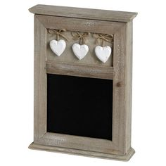 Leave notes for your beloved or messages for the kids with this rustic blackboard, featuring a hanging hearts detail.   Product: ...