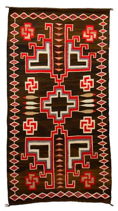 Large J.B. Moore Crystal Rug. Important Navajo textiles for sale on CuratorsEye.com