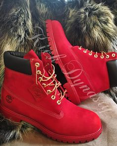 All Red Custom Dyed Timberland Boots Suede by KickDynasty on Etsy