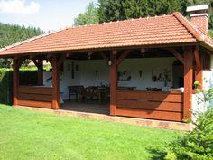 Outdoor Kitchen Patio, Outdoor Rooms, Outdoor Living, Outdoor Decor, Small House Garden, Home And Garden, Barbacoa Jardin, Patio Design, House Design