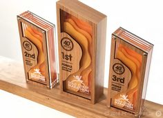 Custom Awards & Event Collateral Archives - Page 3 of 11 - Potato Press Diy Trophy, Trophy Display, Acrylic Plaques, Acrylic Trophy, St Hubert, Plaque Design, Custom Trophies, Acrylic Awards, Laser Cutter Projects
