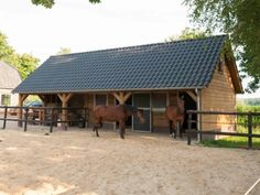 Mini Horse Barn, Simple Horse Barns, Horse Barn Plans, Dream Stables, Dream Barn, Horse Shelter, Little Barn, Horse Property, Horse Stalls