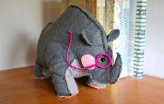 Rinoceronte feltro 3d - Pesquisa Google