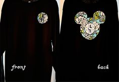 Vera Bradley Applique in Mickey Mouse Ears with Monogram Long Sleeve Shirt
