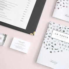 This botanical restaurant branding is so lovely. via Behance Sarah Illenberger, Kate Pugsley, Type Illustration, Menu Design, Branding Design, Design Ideas, Design Inspiration, Wine List, Kokeshi Dolls