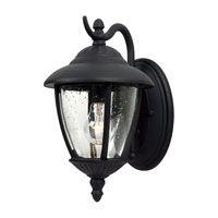 Sea Gull Lighting Lambert Hill 1 Light Outdoor Wall Lantern in Black 84069-12