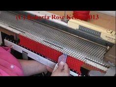 ▶ Easy Machine Knit Bobbles - YouTube