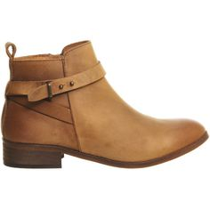 Office Instinct Ankle Boots (455 BRL) ❤ liked on Polyvore featuring shoes, boots, ankle booties, tan flat boots, bootie boots, flat ankle booties, short heel boots and tan booties