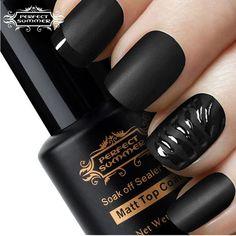 Matt Top Coat Nail Art UV Gel Polish ❤ liked on Polyvore featuring beauty products, nail care, nail polish, nails, makeup, beauty, unhas, shiny nail polish, gel nail care and art nail polish