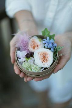 Beautiful Flower box. Preserved Flower. Design by Fragrance flower. #FlowerBox, #PreservedFlower