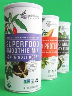 Essential Living Foods Superfood Smoothie Mixers: Organic, Raw, Vegan, Gluten-Free