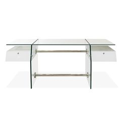 Ridiculous, but like!  Vitra Glass Desk
