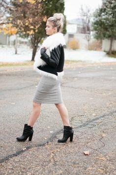 dress: Finishing Touches jacket: c/o ChicWish shoes: Chinese Laundry via Riffraff bag: c/o Cleobella earrings: Melissa Lovy ring: Melissa Lovy ring: c/o CB Luxe