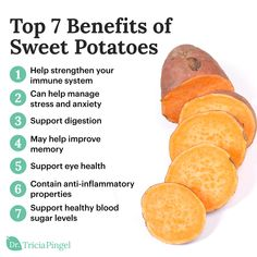 7 Nutritional Benefits of Sweet Potatoes - Dr. Sweet Potato Health Benefits, Benefits Of Sweet Potatoes, Benefits Of Vegetables, Sweet Potato Nutrition Facts, Health And Nutrition, Benefits Of Nutrition, Benefits Of Healthy Eating, Fruit Benefits, Holistic Nutrition