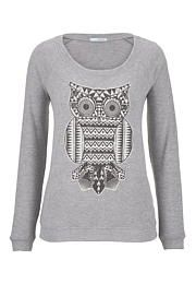 Owl print scoop neck pullover - maurices.com