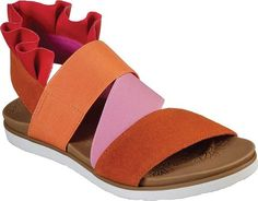 Women's Skechers Moon Keepers Angel Kiss Slingback Sandal - Orange/Multi with FREE Shipping & Exchanges. Colorful fun meets easy wearing comfort to make paradise in the SKECHERS Cali Moon Keepers - Angel Angel Kisses, Comfortable Heels, Slingback Sandal, Skechers, Cali, Paradise, Moon, Colorful, Free Shipping