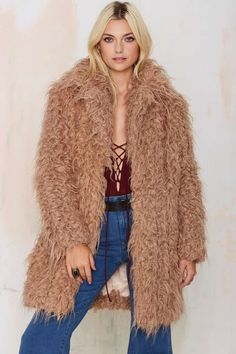 Super Trash Orson Faux Fur Coat - Okay Focus | That '70s Flow | Jackets