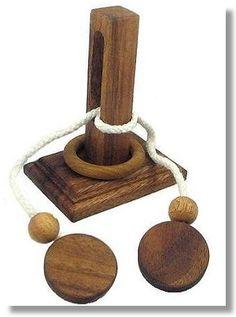 Oliver String Wooden Puzzle Brain Teaser