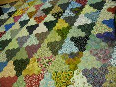 quilts van kippetje en méér.....: De hele hexagonquilt van Riet....
