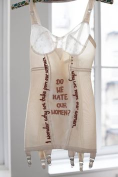 Zoe Buckman––This Artist Embroidered Tupac And Biggie's Rhymes On Lingerie To Make You Rethink Hip-Hop Lyrics