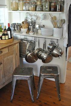Creative Small Kitchen Ideas. Kitchen Wall StoragePot ...