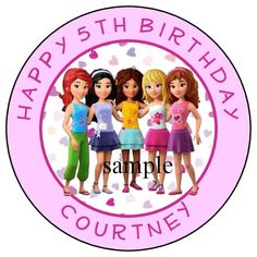 LEGO FRIENDS Birthday Party Favor Cupcake Lollipop Stickers Personalized Labels #Custom #BirthdayChild