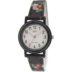 Casio Women's Analog LQ139LB-1B2 Floral Cloth Quartz Watch