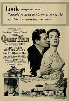 THE QUIET MAN, original poster. My favorite John Wayne movie. Love watching this with my husband.