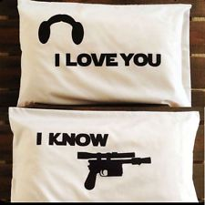 Star Wars I Love You I Know White Pillowcases