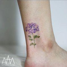 Purple Peony Tattoo by Tattooist Nanci
