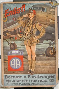 Collection of Aviation Pin Up and Nose Art copyrights belong to their respective owners. Pin Up Vintage, Pin Up Retro, Vintage Ads, Ww2 Posters, Pin Up Posters, Military Art, Military History, Military Pins, Dibujos Pin Up