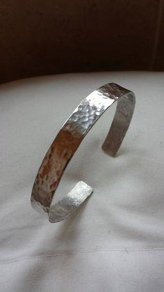 sterling silver textured men's cuff bracelet by HLbespokesilver, £89.00
