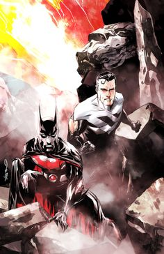 Batman Beyond and Superman Unlimited by Dustin Nguyen