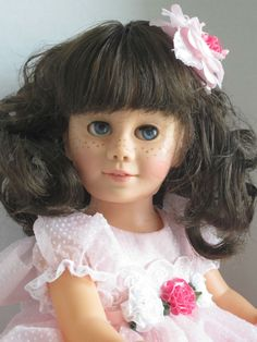 """""""SWEET INNOCENCE """" Rare   SF Peachy Brunette Pigtail CHATTY CATHY Talks   #Mattel #DollswithClothingAccessories"""