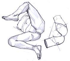足の描き方5 Body Reference, Anatomy Reference, Art Reference Poses, Drawing Reference, Easy 3d Drawing, Drawing Tips, Drawing Sketches, Drawings, Drawing Female Body