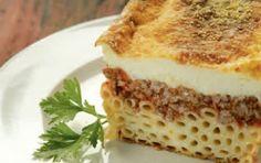 Συνταγή για παστίτσιο σπιτικό. Παστίτσιο μπεσαμέλ. Παραδοσιακή συνταγή για παστίτσιο