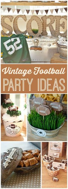 Maureen A's A Vintage Football Viewing Party / Football - A Vintage Football Viewing Party at Catch My Party Football Banquet, Football Themes, Football Boys, Football Season, Football Shirts, Football Awards, Fall Football, Football Parties, Football Stuff